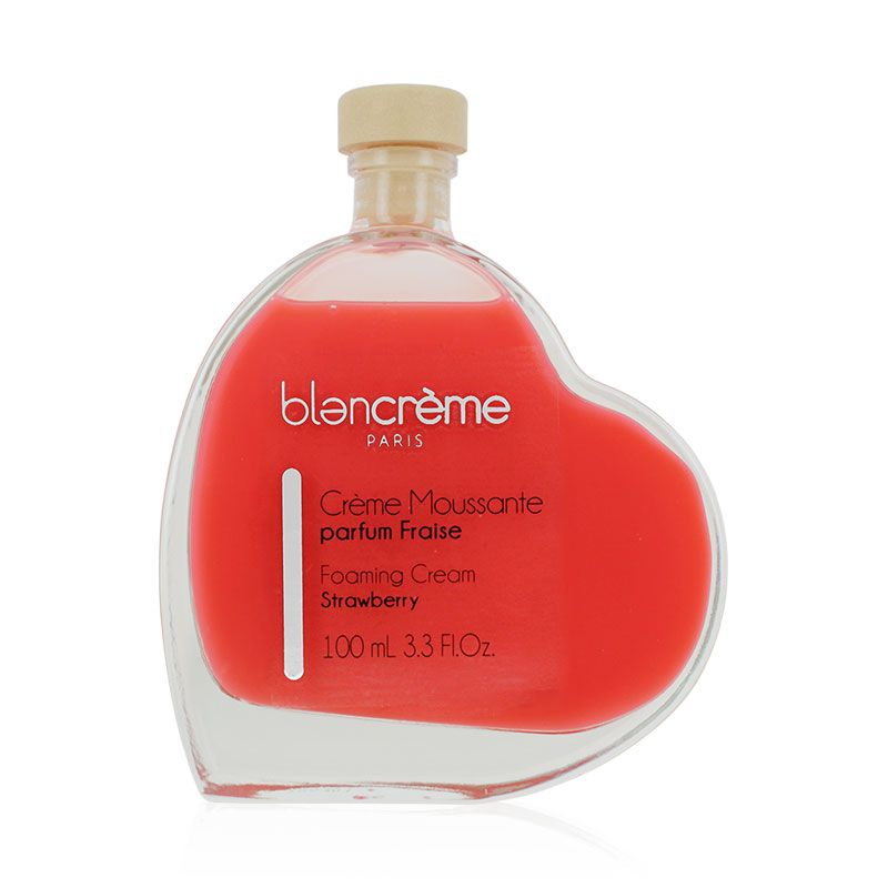 Crème bain-douche cœur parfum fraise 100ml