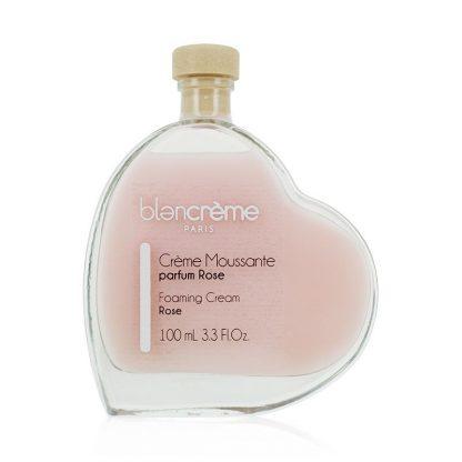 Crème moussante cœur parfum rose 100ml