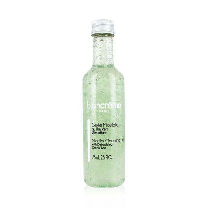 Démaquillant gelée micellaire Thé vert 75mL : Nettoyant visage détoxifiant - fabriqué en France