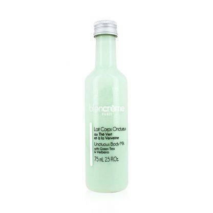 Lait corps onctueux verveine thé vert 75mL : soin corps pour hydratation légère de la peau - fabriqué en France