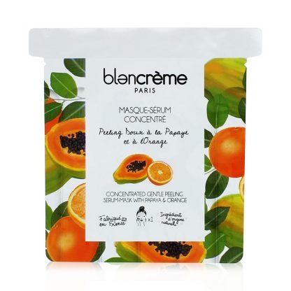 Masque visage tissu à l'orange et à la papaye