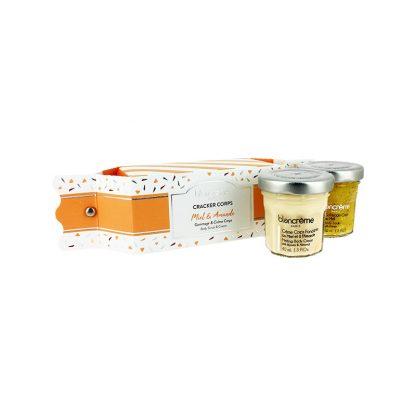 Crackers soins corps contenant des soins pour le corps au miel & à l'amande